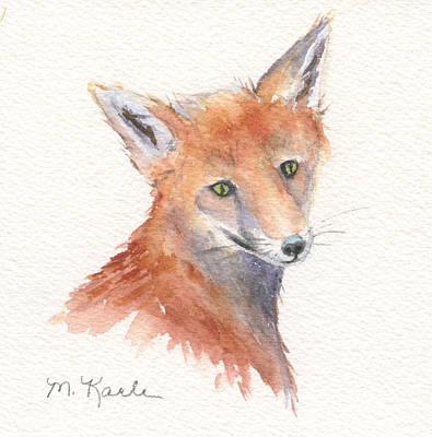 Painting - Red Fox Portrait by Marsha Karle