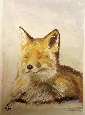 Painting - Red Fox Rest by Annie Poitras