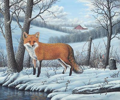 Wavra Wall Art - Painting - Red Fox by Robert Wavra