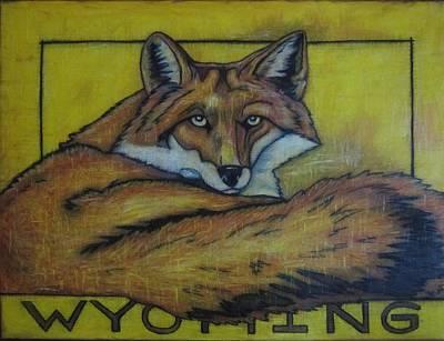 Red Fox Wyoming Art Print