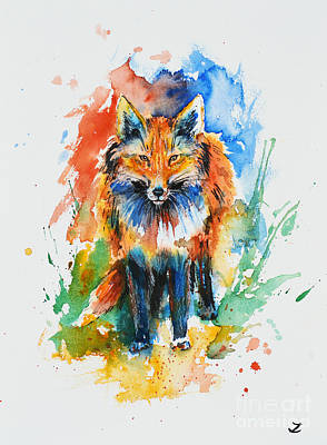 Painting - Red Fox by Zaira Dzhaubaeva