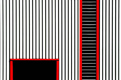 Red Frame Art Print