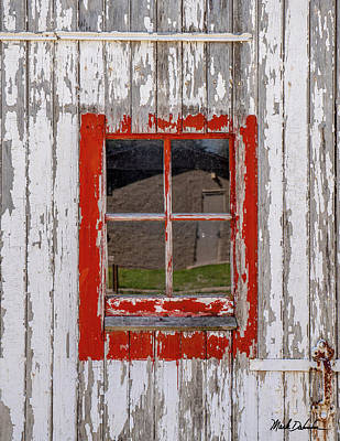 Photograph - Red-framed Window by Mark Dahmke