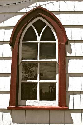 Veneta Photograph - Red Framed Window by Zola Jean Sherwood