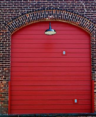 Photograph - Red Freight Door by Cynthia Guinn