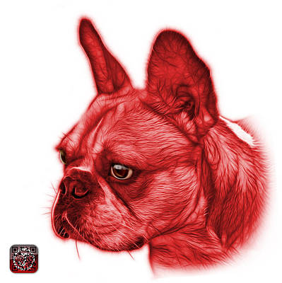 Painting - Red French Bulldog Pop Art - 0755 Wb by James Ahn