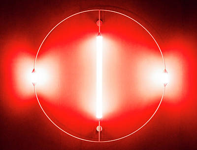 Photograph - Red Futuristic Lights by Alexandre Rotenberg