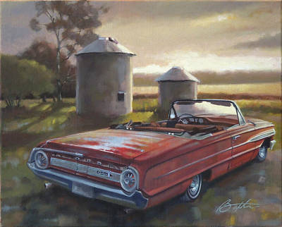 Farm Fields Painting - Red Galaxie by Todd Baxter