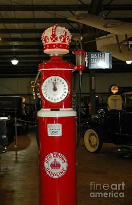 Red Gas Pump Art Print