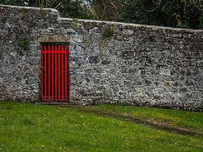 Photograph - Red Gate At Coole Park Estate by James Truett