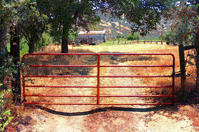 Photograph - Red Gate by Timothy Bulone