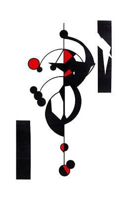 Red Geo Design Art Print