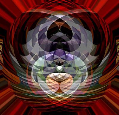 Red Geo Low Art Print by Beverly Kimble Davis