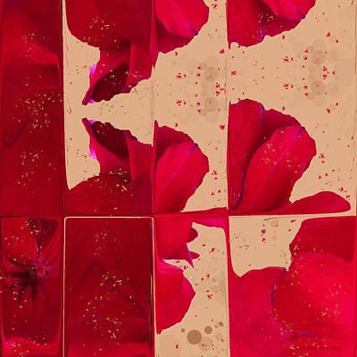 Red Geranium Fragments Art Print
