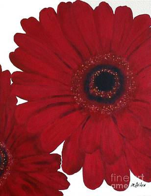 Wrap Painting - Red Gerber Daisy by Marsha Heiken