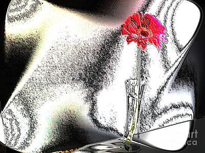 Gerber Daisy Photograph - Red Gerber In Lights by Marsha Heiken
