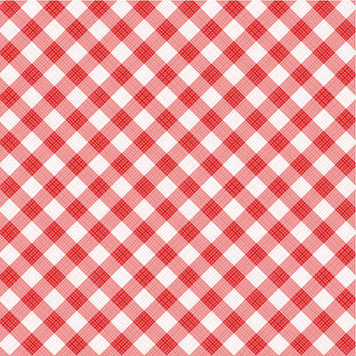 Checked Tablecloths Digital Art - Red Gingham Fabric Cloth by Natalia Ratselmeister
