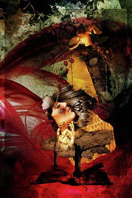 Digital Art - Red Girl by Richard Ricci