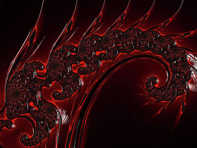 Digital Art - Red Glass Abstract by Georgiana Romanovna