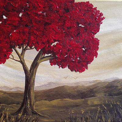 Painting - Red Glory by T Fry-Green