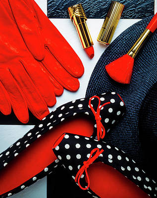 Red Gloves And Shoes Art Print