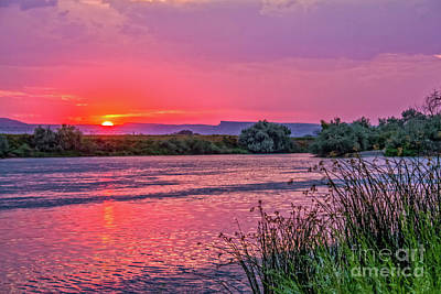 Photograph - Red Glow Over The Snake River by Robert Bales