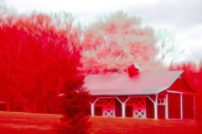 Photograph - Red Glow Red Barn by Aimee L Maher ALM GALLERY