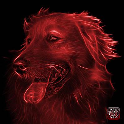 Digital Art - Red Golden Retriever - 4057 Bb by James Ahn