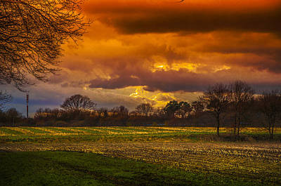 Herbstfarben Photograph - Red Golden Sky by Kai Jarchow