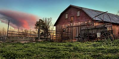 Wooden Farm Wagon Photograph - Red Grain by Thomas Zimmerman