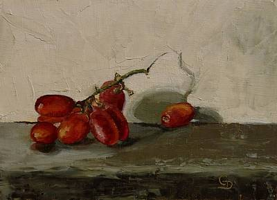 Painting - The Red Grapes by Grace Diehl