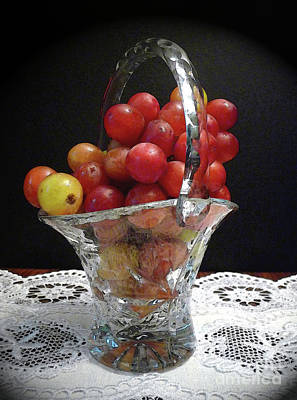 Photograph - Red Grapes In Crystal by Margie Avellino