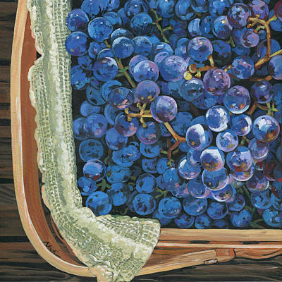 Red Grapes Art Print by Nadi Spencer