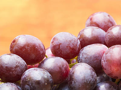Ripe Photograph - Red Grapes by Wim Lanclus