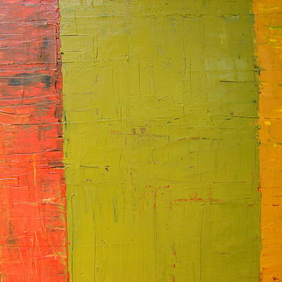 Stucco Painting - Red Green Yellow by Michelle Calkins