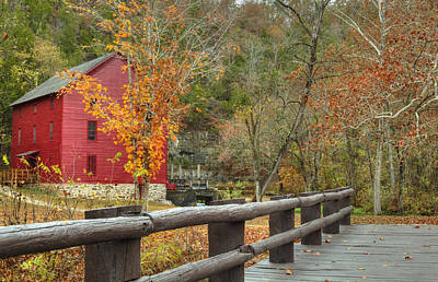 Photograph - Red Grist Mill Front Entrance by Deb Buchanan
