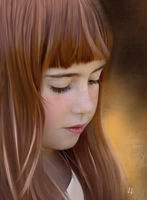Digital Art - Red Hair ...  by Jacqueline Schreiber