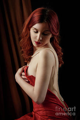 Photograph - Red Hair Woman by Jelena Jovanovic