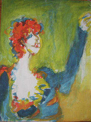 Painting - Red Haired Lady by Lydia L Kramer