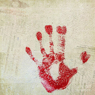 Photograph - Red Hand French Square by Cathie Richardson