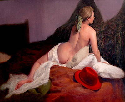 Red Hat 2 Art Print by Donelli  DiMaria