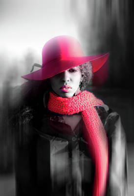 Photograph - Red Hat by Lilia D