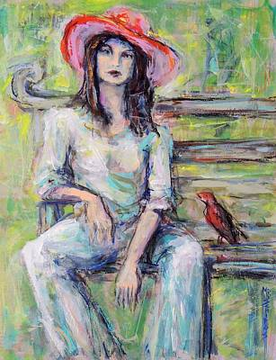 Painting - Red Hat by Mary Schiros