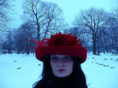 Photograph - Red Hat On A Blue Day by Cynthia Conte