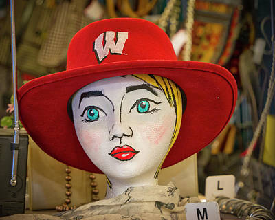 Photograph - Red Hat On Mannequin Head by Steven Ralser