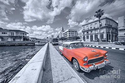 Red Havana Print by Rob Hawkins