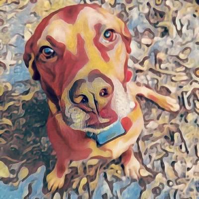 Digital Art - Red Head by Leapdaybride Visual Arts