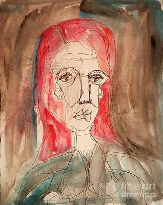 Mixed Media - Red Headed Stranger by A K Dayton