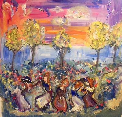 Painting - Red Heads In The Garden  by Judith Desrosiers