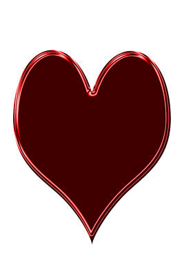 Digital Art - Red Heart by Aimee L Maher Photography and Art Visit ALMGallerydotcom